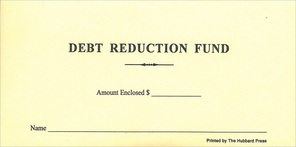 debt-reduction-fund Quickie Order Forms on