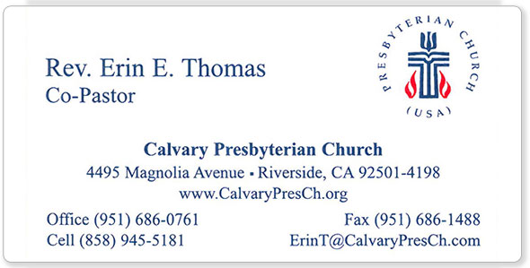 The hubbard press business cards calvary presbyterian business card reheart Images