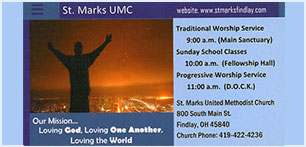 St Marks UMC business card