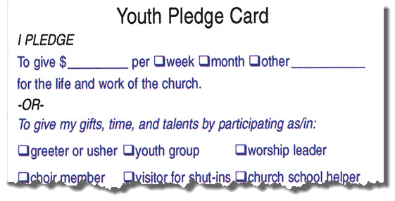 Youth Pledge Card #60100-3