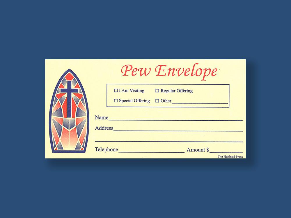 The Hubbard Press Custom Designed Pew Envelopes