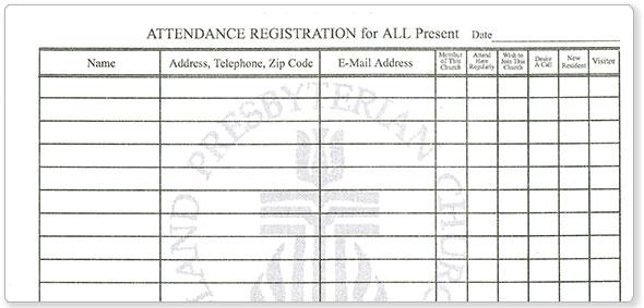 the hubbard press recordkeeping attendance pads