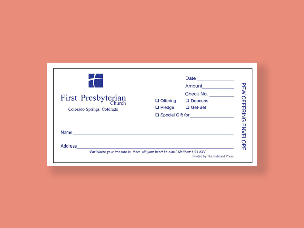 The Hubbard Press Custom Designed Pledge Cards