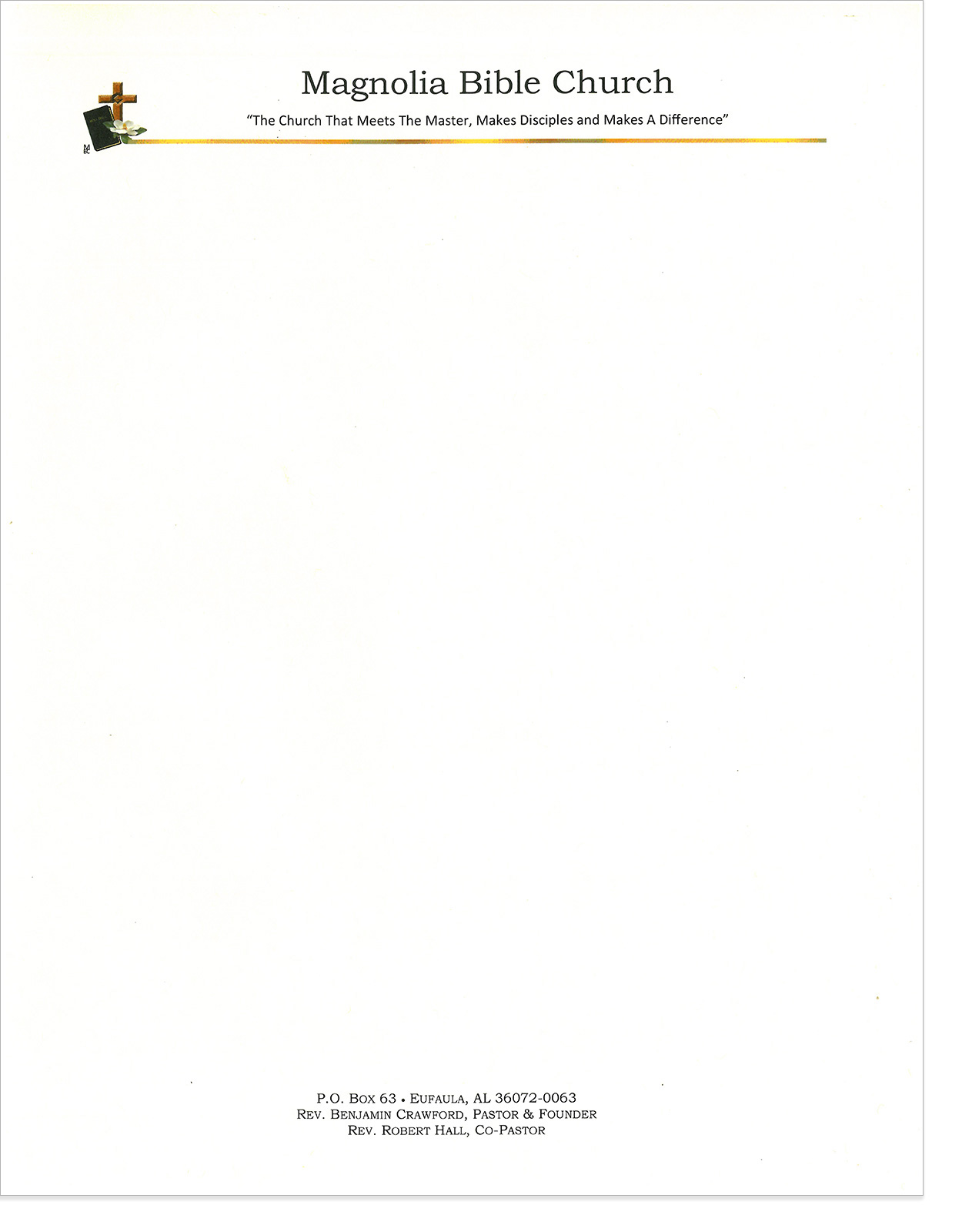 The hubbard press letterhead stationery magnolia bible church letterhead spiritdancerdesigns Choice Image